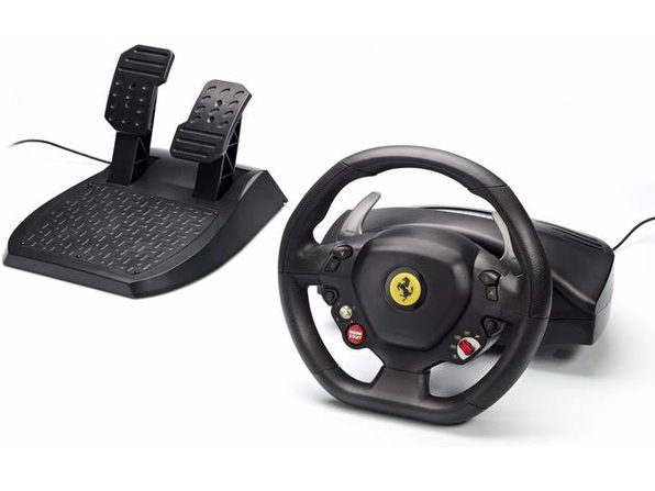 "Thrustmaster Xbox 360 11"" XXL Rubber Texture Cladding Ferrari 458 Racing Wheel - Product Image"
