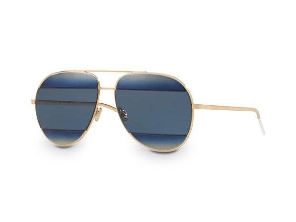 Dior Split Sunglasses Blue/Gold - Product Image