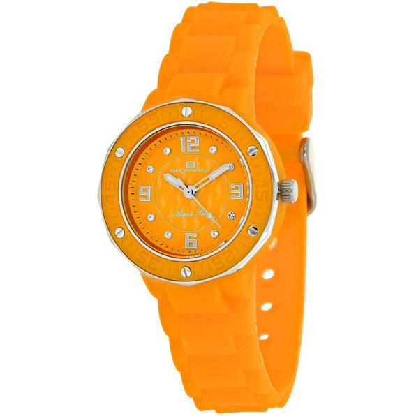 Oceanaut Women's Acqua Star Orange Dial Watch - OC0435