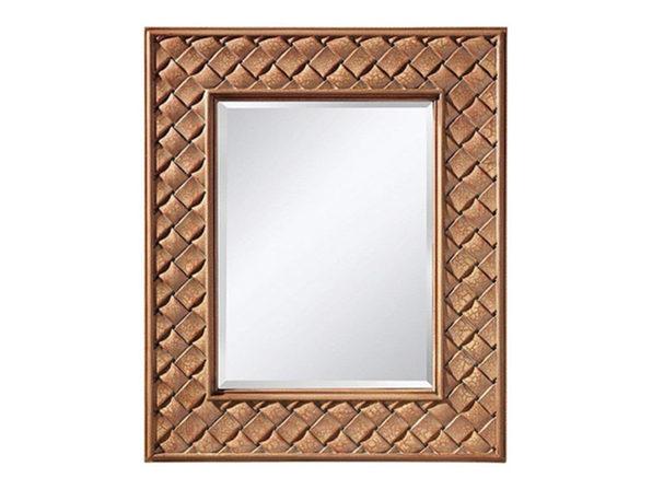 Murray Feiss MR1169BCC Crisfield Rectangular Mirror, Buttercream - Buttercream Crackle