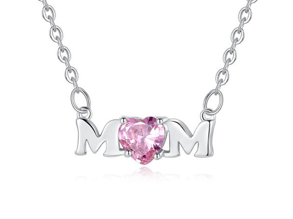 """Mom"" Pendant Necklace"