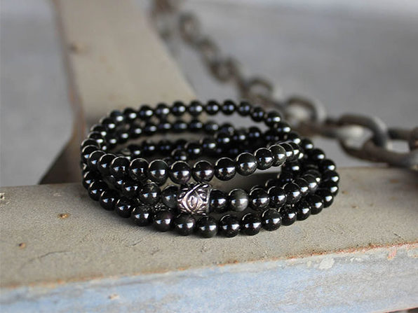 Black Obsidian Chakra Stone Necklace/Bracelet
