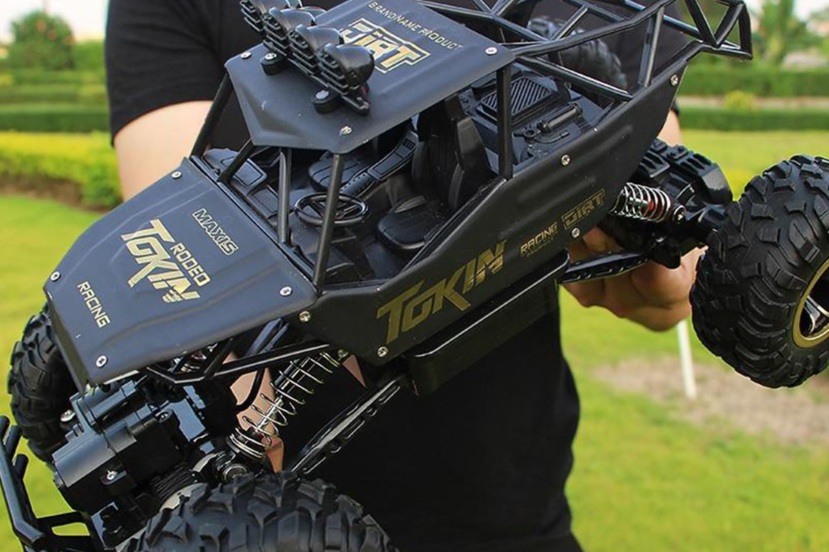 A remote controlled monster truck