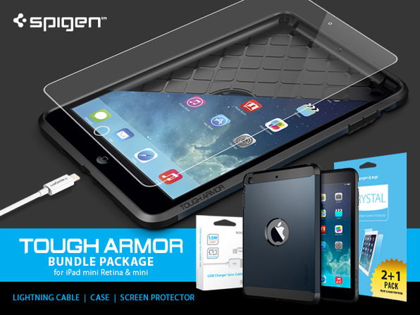 best website 64c4a 5664c The iPad Mini Tough Armor Bundle by Spigen | StackSocial