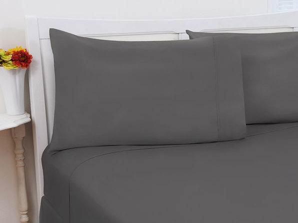1800 Series Bamboo Extra Soft 4-Piece Sheet Set (King/Grey)