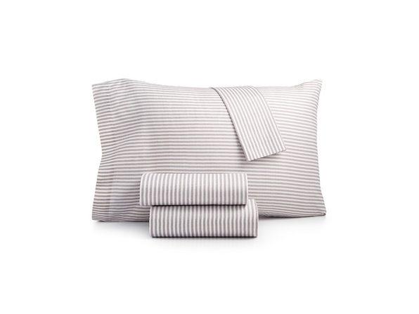 Sanders Printed Microfiber 4 Piece Causal Microfiber Bed Sheet Set, Size: Queen, Polyester, Batik Grey
