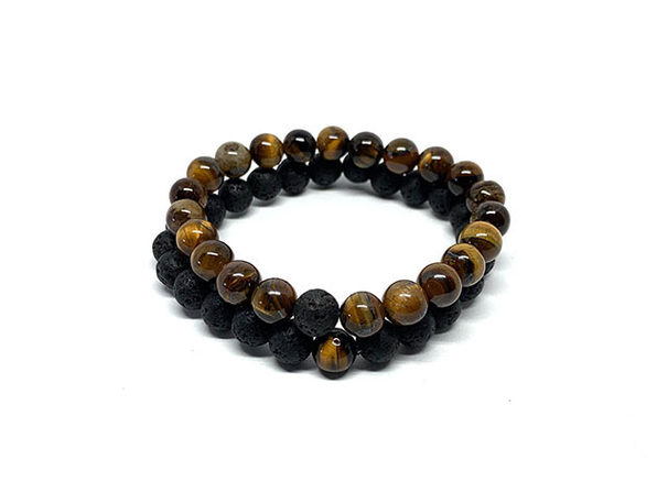 Lava Rock & Tiger Eye Piece of Me Bracelet Set