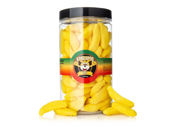 Kangaroo Banana CBD Gummies (2,000 Mg)