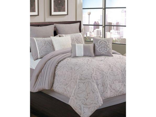 Hallmart Collectibles Riverbrook Home Winthrop 9 Pc Queen Comforter Grey Queen