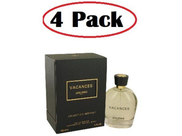 4 Pack of Vacances by Jean Patou Eau De Parfum Spray 3.3 oz - Product Image