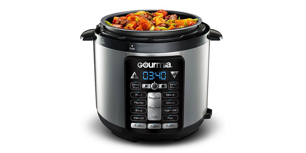 Gourmia® GPC419 4-Qt SmartPot Digital Multi-Function Pressure Cooker, on sale for $55.99 when you use coupon code OCTSALE20 at checkout