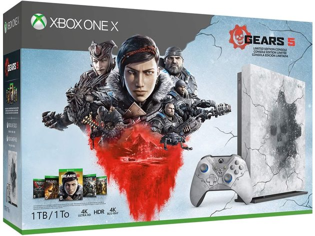 Xbox One X 1Tb Console - Gears 5 Limited Edition Bundle - New Open Box - New Open Retail or Brown Box for $579