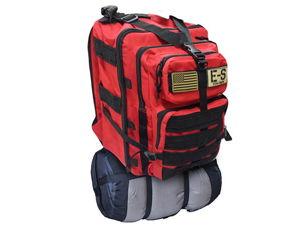 Bug Out Bag Complete Emergency Kit with KN95 Mask (Red)