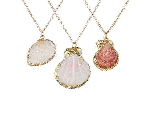 Heartbeats Seashell Necklace: Set of 3