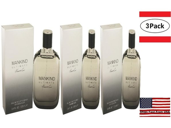 3 Pack Kenneth Cole Mankind Ultimate by Kenneth Cole Eau De Toilette Spray 3.4 oz for Men - Product Image
