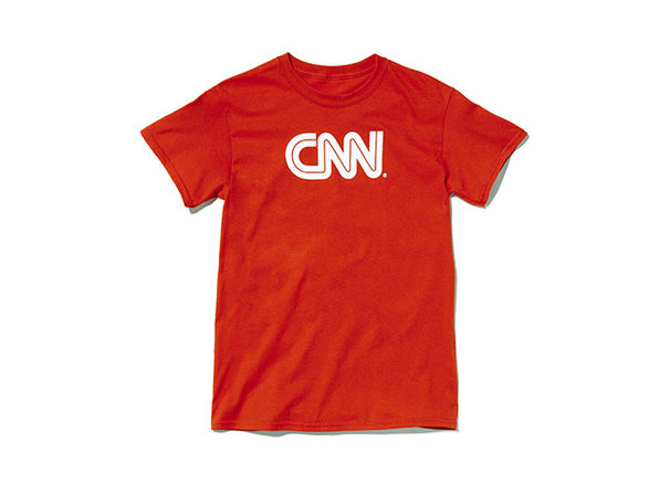 CNN Basic Tee  Red L