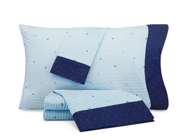 Nautica Kids Stripes at Sea Cotton-Rich Sheet Set
