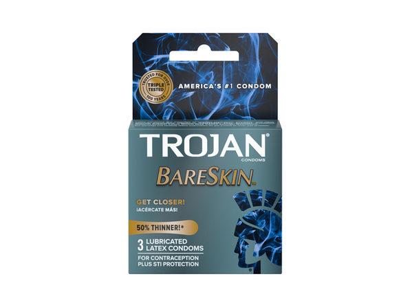 Trojan BareSkin Thinner Condoms (3pk) ---(Package Of 2)