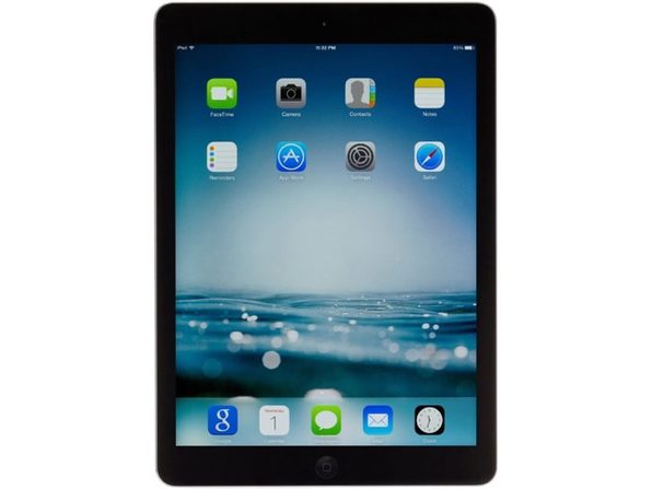 "Apple iPad Air 1st Gen MD786LL/A, 1 GHz Dual Core, 1GB DDR2 RAM, 32GB SSD, iOS, 9"" Screen (Refurbished Grade B)"