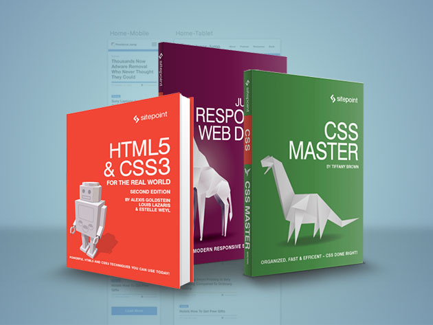 Ultimate Web Development eBook and Course Bundle - Your Front-End Web Development Journey Begins Here with 7 eBooks & 21 Hours of Content