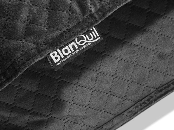 BlanQuil™ Quilted Weighted Blanket with Removable Cover (Charcoal/20 Lb)