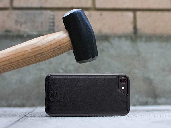 Mous Limitless Ultra-Slim iPhone Cases with Airo Shock Protection (iPhone 6/7 Plus - Black Leather)