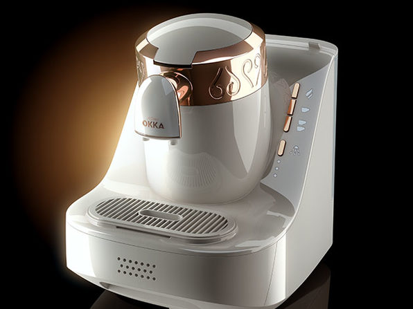 Arzum Okka Automatic 120V Turkish Coffee Maker (White/Gold)
