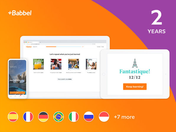 Babbel Language Learning: 2-Yr Subscription (All Languages)