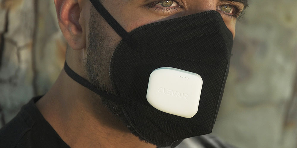ClevAir Wearable Purifier and Interchangeable Mask Set, on sale for $62.95 (21% off)