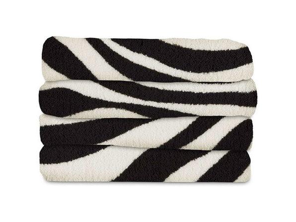 Sunbeam Slumber Rest Microplush Electric Heated Throw Blanket Zebra Pattern Machine Washable 3 heat Settings - Zebra