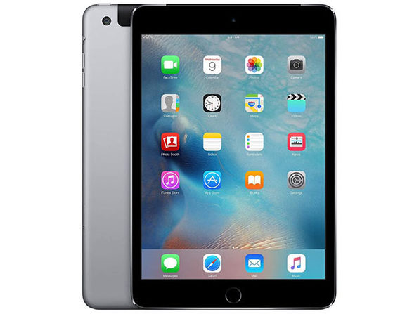 "Apple Mini 4 7.9"" 128GB - Space Gray (Certified Refurbished: Wi-Fi + 4G)"