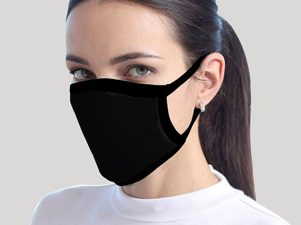 Reusable Face Masks: 4-Pack (Black)
