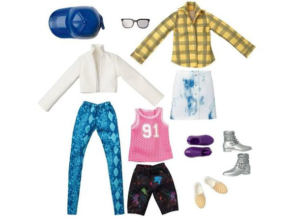 Creatable World Leather and Plaid Clothes and Accessories Fashion Everyday Style Pack Doll