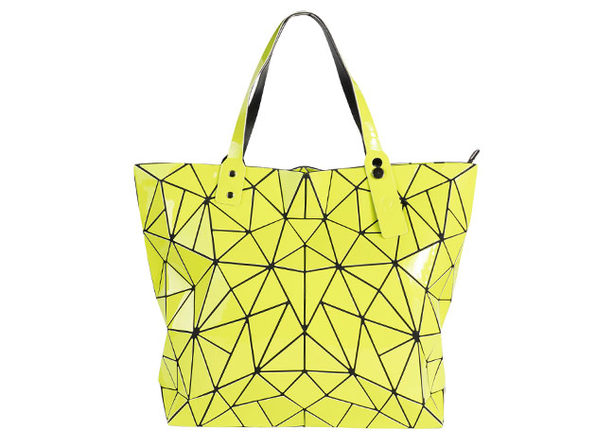 Geo Shaped Tote with Zipper
