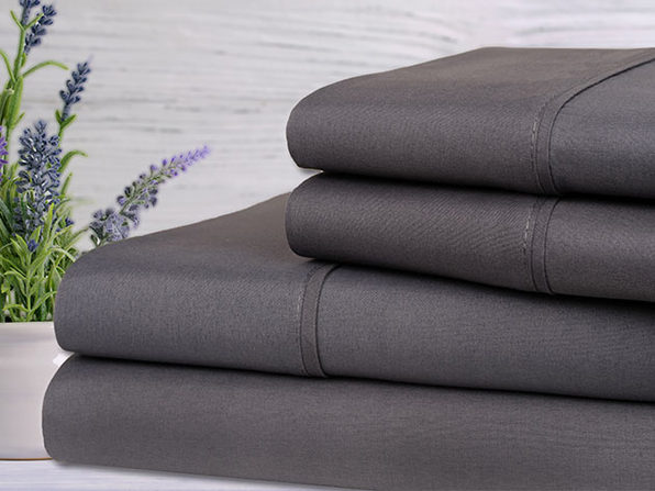 Bamboo 4-Piece Lavender Scented Sheet Set (Grey)