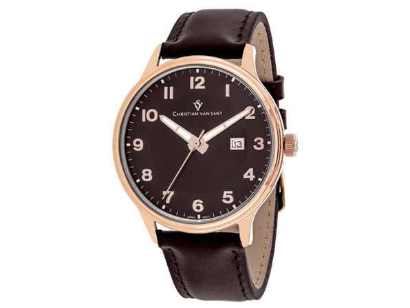 Christian Van Sant Men's Montero Brown Dial Watch - CV9811