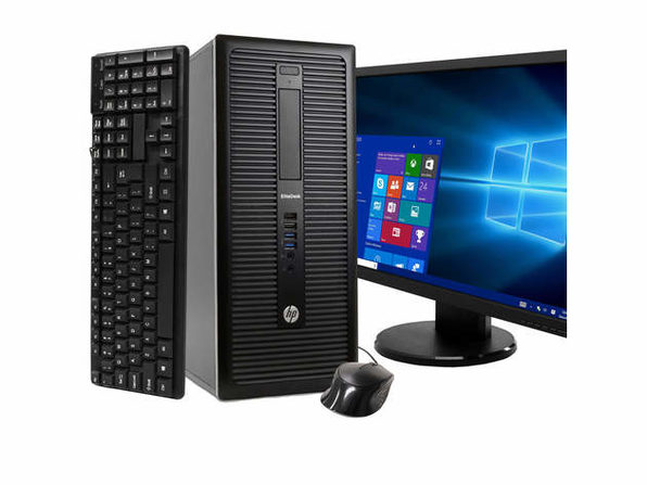 "HP EliteDesk 800 G1 Tower PC, 3.2GHz Intel i5 Quad Core Gen 4, 16GB RAM, 1TB SATA HD, Windows 10 Home 64 bit, BRAND NEW 24"" Screen (Renewed)"