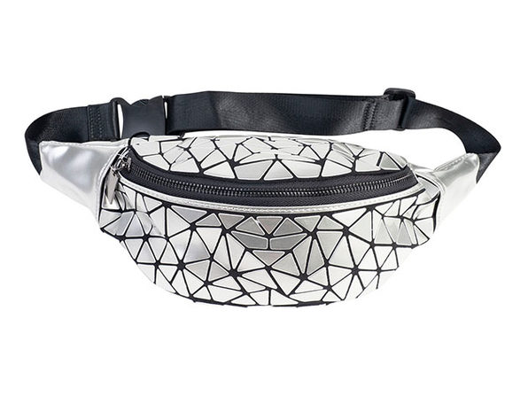 Geo Shaped Fanny Pack - Silver - Product Image