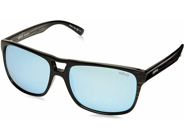 Revo Holsby RE 101901 BL Polarized Sunglasses Black Plastic Frames - Black