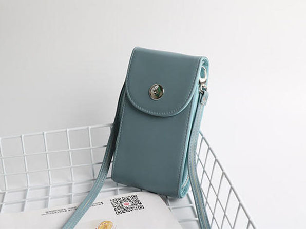 Mini Cross Body Purse - Blue - Product Image