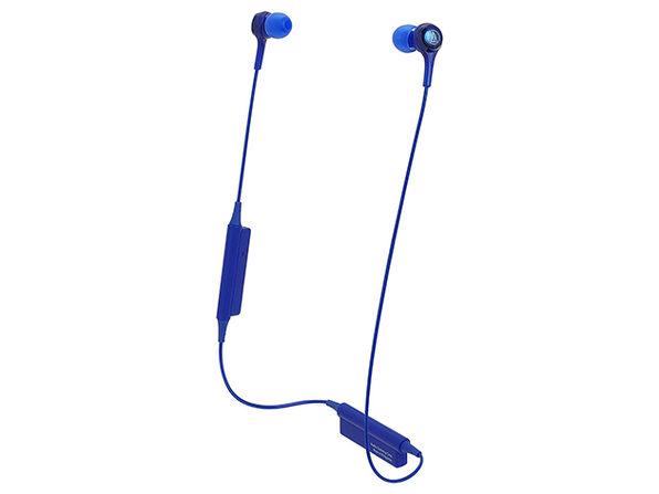 Audio-Technica Bluetooth Wireless In-Ear Headphones (Blue)