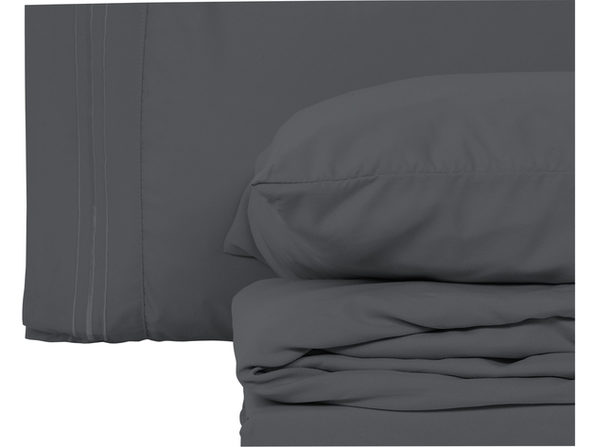 Style Basics 4 Pack of Super Soft Brushed Microfiber 16-Pieces Bed Sheet Set - 1800 Series  Easy-Clean - Taupe Queen