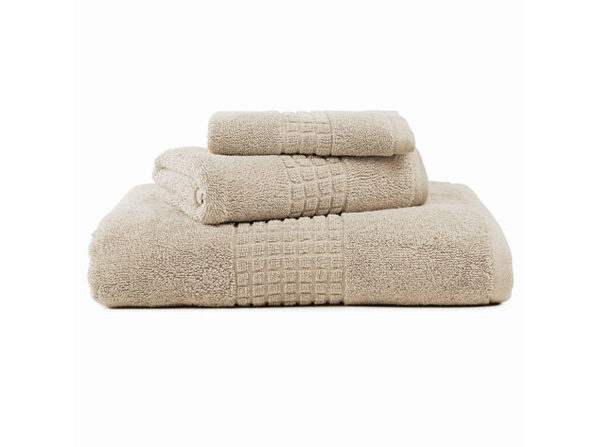 Valentino Luxe 3-Piece Egyptian Cotton Spa Towel Set (Beige)