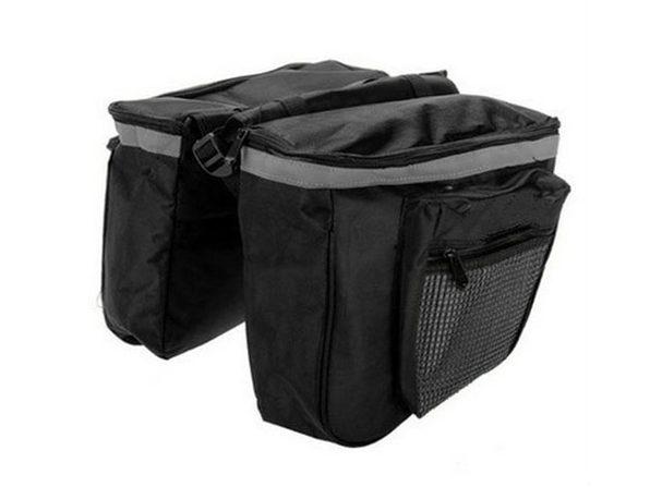 Rear Tail Waterproof Bicycle Bag (Black Gray)