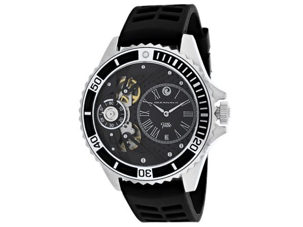 Oceanaut Men's Tide Black Dial Watch - OC0997