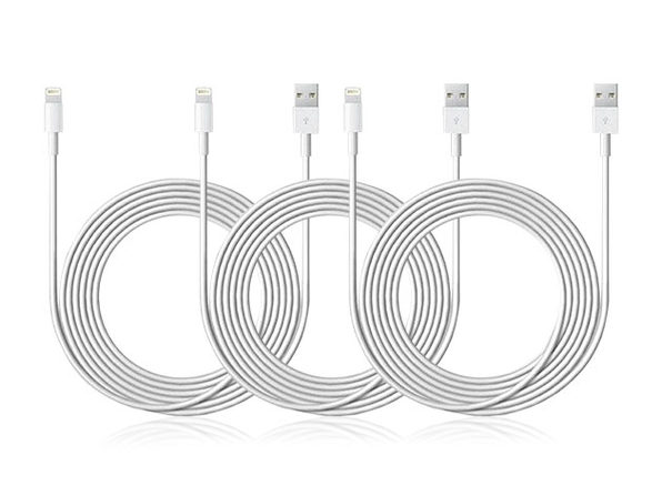 10-Ft MFi-Certified Lightning Cable: 3-Pack | StackSocial