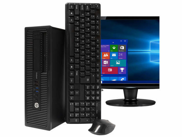 "HP ProDesk 600G1 Desktop PC, 3.2GHz Intel i5 Quad Core Gen 4, 16GB RAM, 1TB SATA HD, Windows 10 Home 64 bit, 22"" Screen (Renewed)"