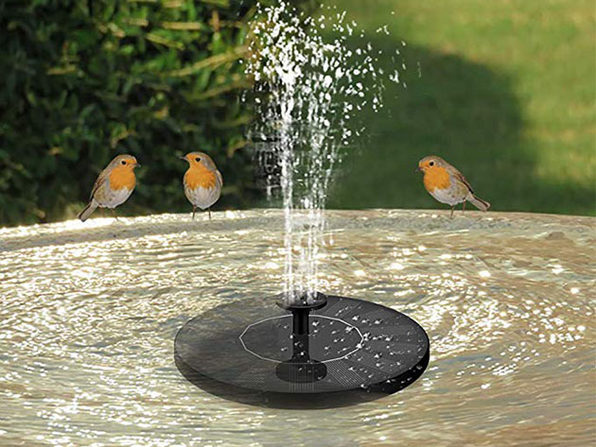 Solar Water Fountain with Assorted Heads