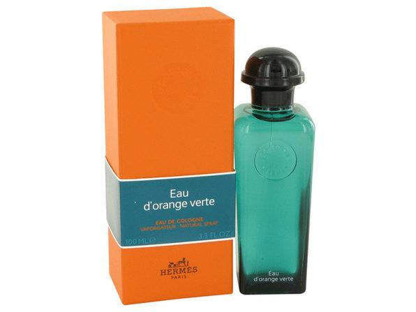 3 Pack EAU D'ORANGE VERTE by Hermes Eau De Cologne Spray (Unisex) 3.4 oz for Men