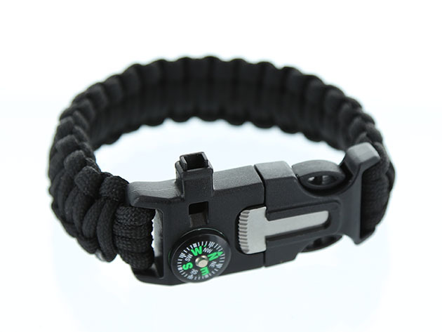 Essential survival features are all packed into one convenient bracelet